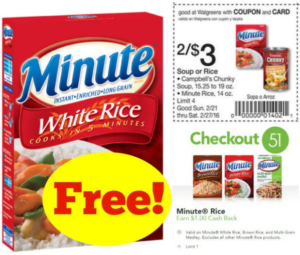 Minute rice coupons
