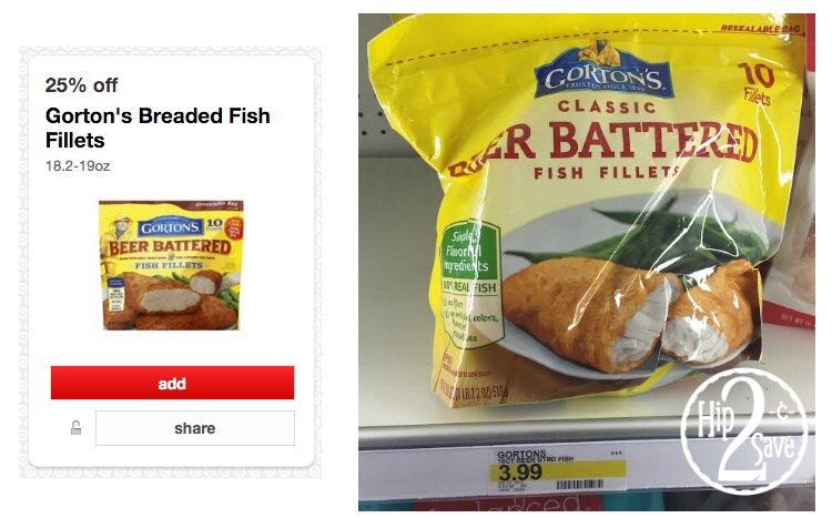 Good deal on gorton 39 s fish at target who said nothing in for Gorton s fish coupons