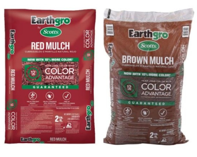 Great Deal On Red Or Brown Mulch At Home Depot Who Said Nothing In