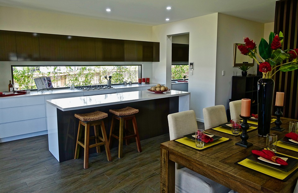 Modern Design Residential Counter Kitchen Interior