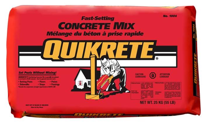 QUIKRETE Fast-Setting Concrete Mix