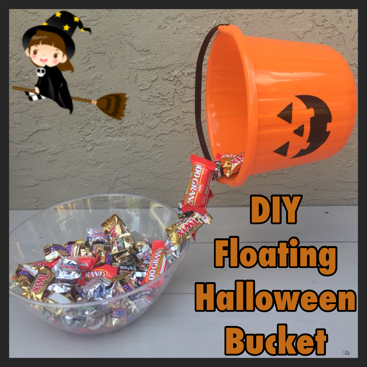 DIY Floating Halloween Bucket / Candy Bowl - Who Said Nothing in ...