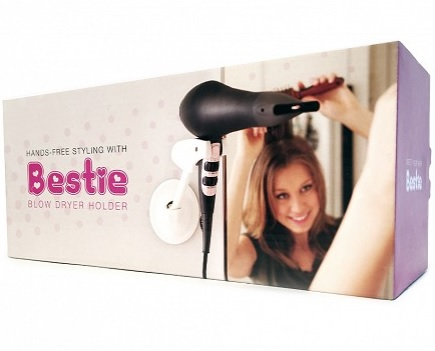 Bestie Brands Hands-Free Blow Dryer Holder